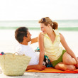 Royalty-Free Stock Photo: Romantic couple spending quality time at the beach