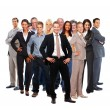Royalty-Free Stock Photo: Large group of business colleagues standing over white backgroun
