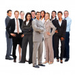 Large group of business standing on white background - Stock Photo
