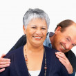 Royalty-Free Stock Photo: Happy senior couple on white background