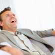 Royalty-Free Stock Photo: Happy mature business man laughing