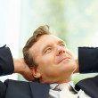Middle age business man thinking , isolated - Stock Photo