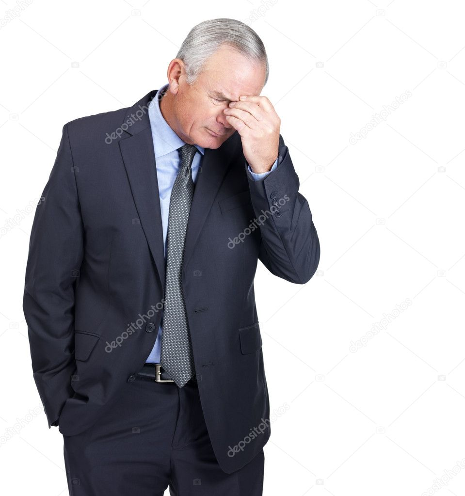 Portrait of a thoughtful mature business man — Stock Photo #3343074