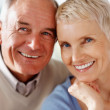 thumbnail of Closeup of a happy elderly couple smiling together