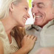 Royalty-Free Stock Photo: Closeup of a mature couple enjoying a pleasant moment together