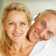 Royalty-Free Stock Photo: Closeup of happy old couple looking at you