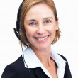 Royalty-Free Stock Photo: Cheerful middle aged customer service agent