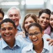 Group of diverse business colleagues enjoying success - 