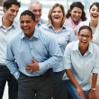 Business success - Group of overjoyed - Stock Photo