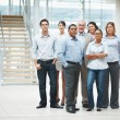 Royalty-Free Stock Photo: Confident business standing together in group at office