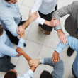 Royalty-Free Stock Photo: Business linking hands in teamwork