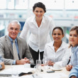 Royalty-Free Stock Photo: Visionary business group - Team during a meeting in boardroom
