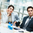 Royalty-Free Stock Photo: Business colleagues sitting attentively for a meeting