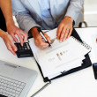 Accounting - Group of business working together - Stock Photo