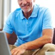 Royalty-Free Stock Photo: Portrait of a handsome senior man using a laptop