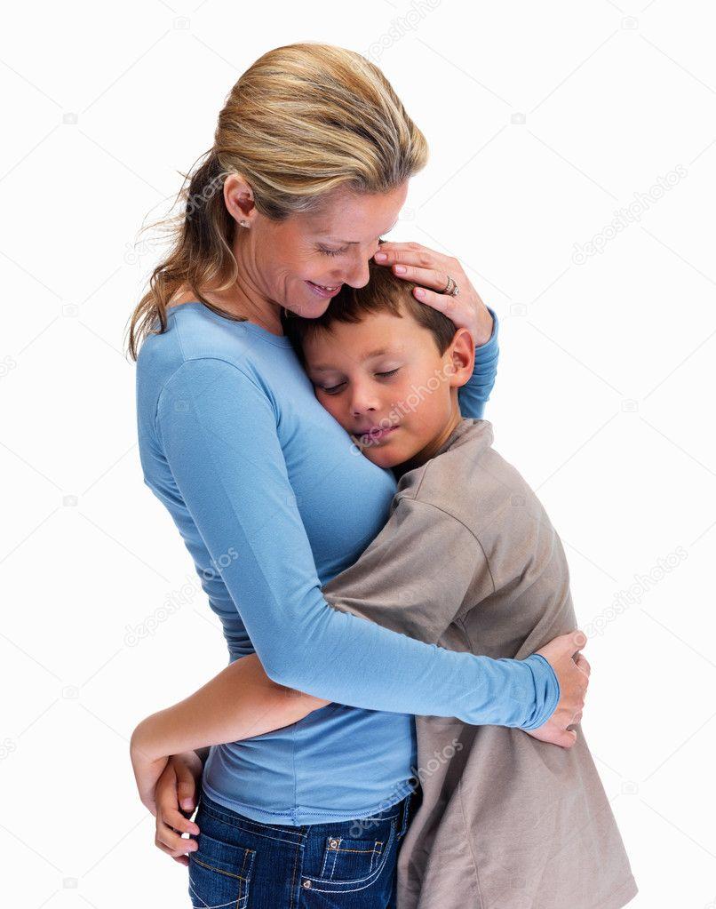 Сын молоденькую маму трахает ее
