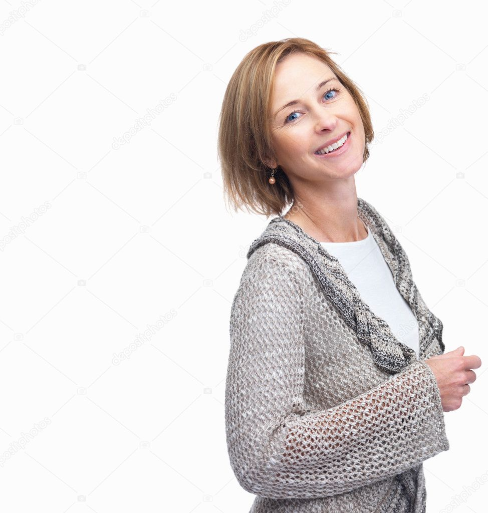 depositphotos 3364648 Portrait of beautiful mature woman posing against white backgrou Tired of looking pro a REAL AMATEUR WEBSITE so as en route for updates all ...