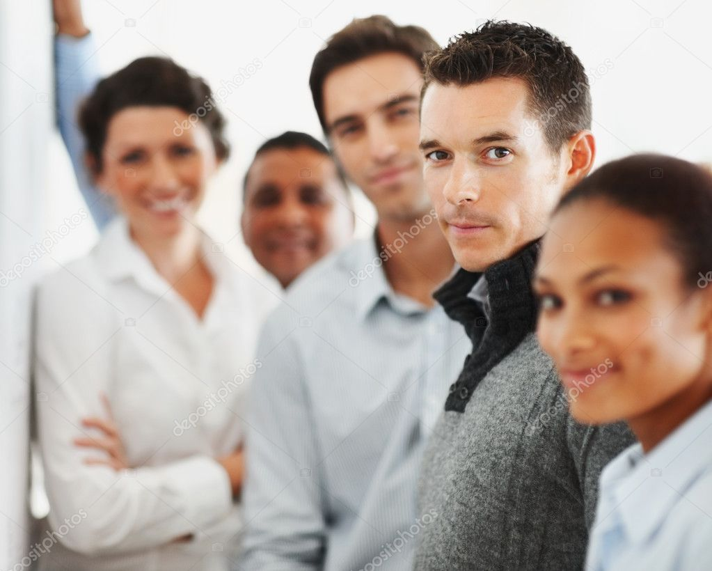 Group of business standing together in a line — Stock Photo #3365875