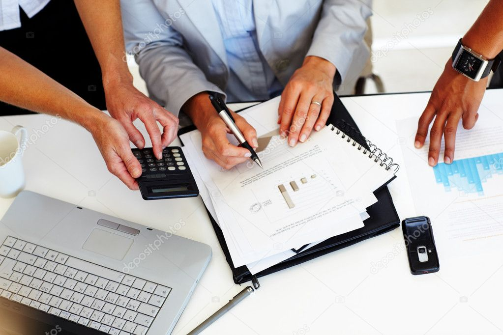 Cropped image of group of business working together  Stock Photo #3368475