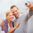 Royalty-Free Stock Photo: Happy young couple self photography