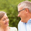 Royalty-Free Stock Photo: Senior couple looking at eachother, smiling
