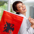 Royalty-Free Stock Photo: Beautiful young female with an Albanian flag