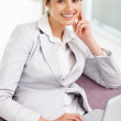 Royalty-Free Stock Photo: Beautiful business woman working on a laptop