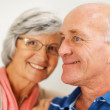 Royalty-Free Stock Photo: Closeup of a happy romantic senior couple together