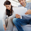 Royalty-Free Stock Photo: Image of mature couple planning their budget