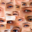 Royalty-Free Stock Photo: Collection and Collage of different eyes