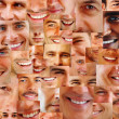 Royalty-Free Stock Photo: Collection and collage of parts of human smiling face