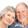 Royalty-Free Stock Photo: Portrait of happy senior couple smiling together