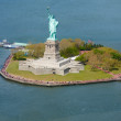 Statue of Liberty New York from the sky - 图库照片