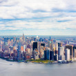 Aerial view of Lower Manhattan New York City - Zdjęcie stockowe