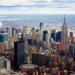 Royalty-Free Stock Photo: Aerial view of Empire state building and downtown Manhanttan