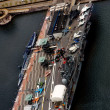 Aerial view of New York aircraft carrier museum - Stock Photo