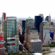 Aerial view of New York City skyline - Stock Photo