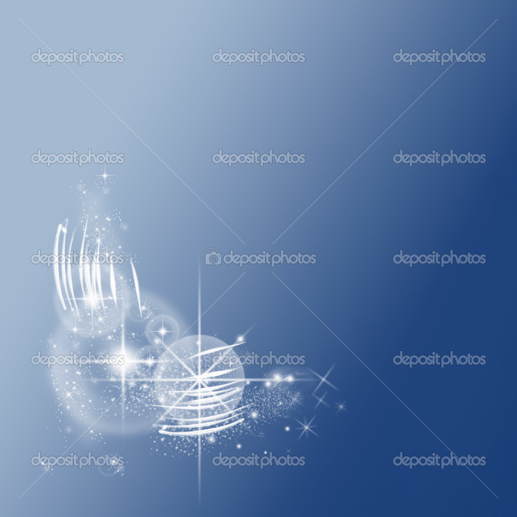 Beautiful shiny effect on blue background - Wallpaper — Foto de Stock   #3462286