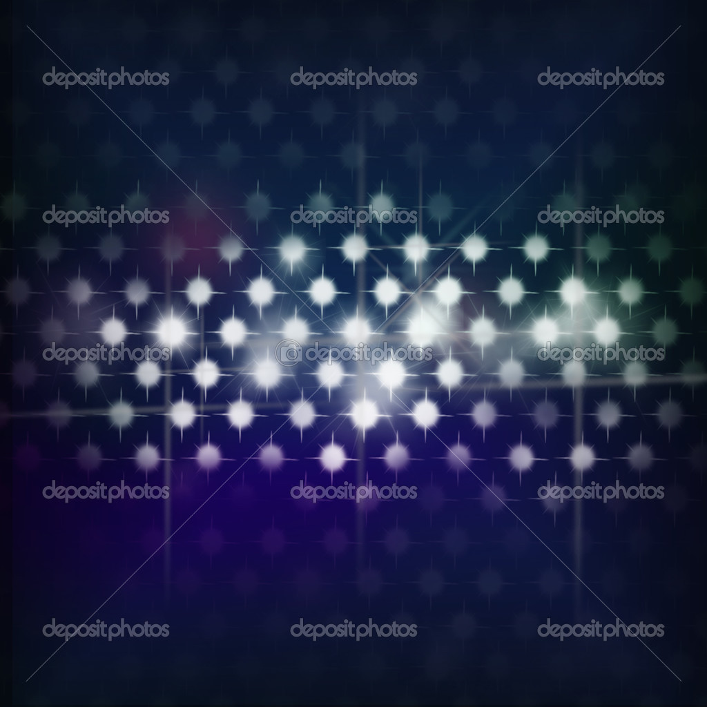 Disco lights dots pattern on blue background - Retro illustration — Stock Photo #3462345