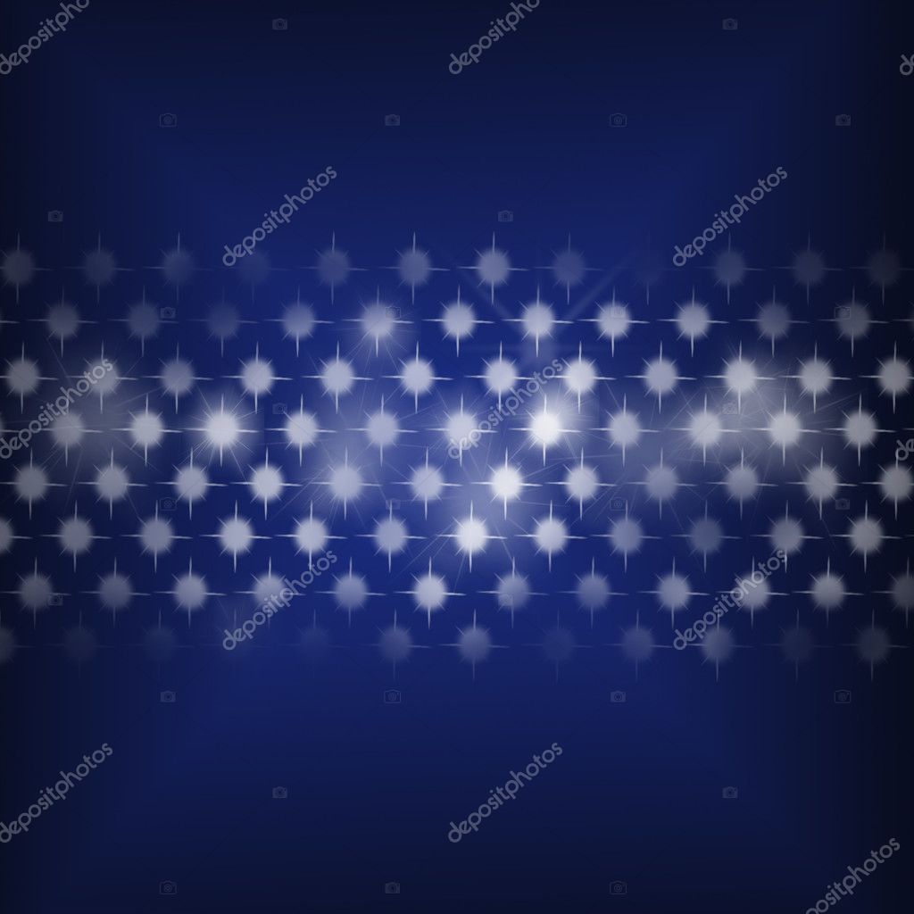 Disco lights dots pattern on blue background - Retro illustration  Stock Photo #3462346