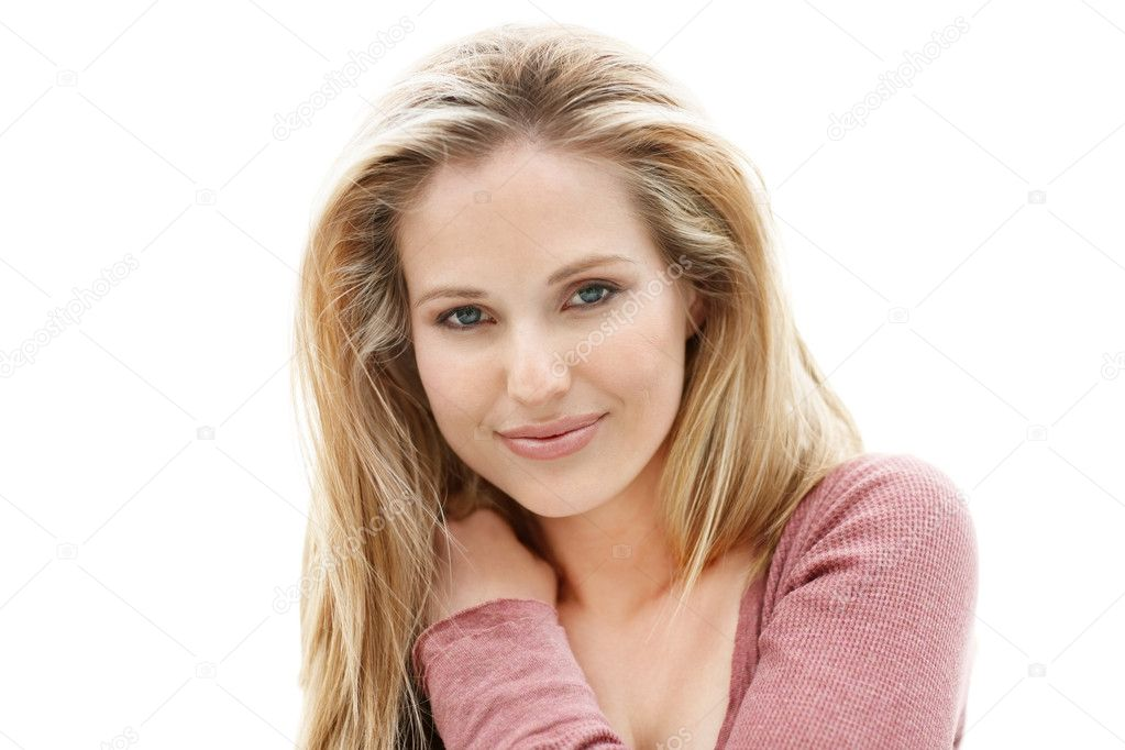 Portrait of a young sexy woman isolated on white background — Стоковая фотография #3464000