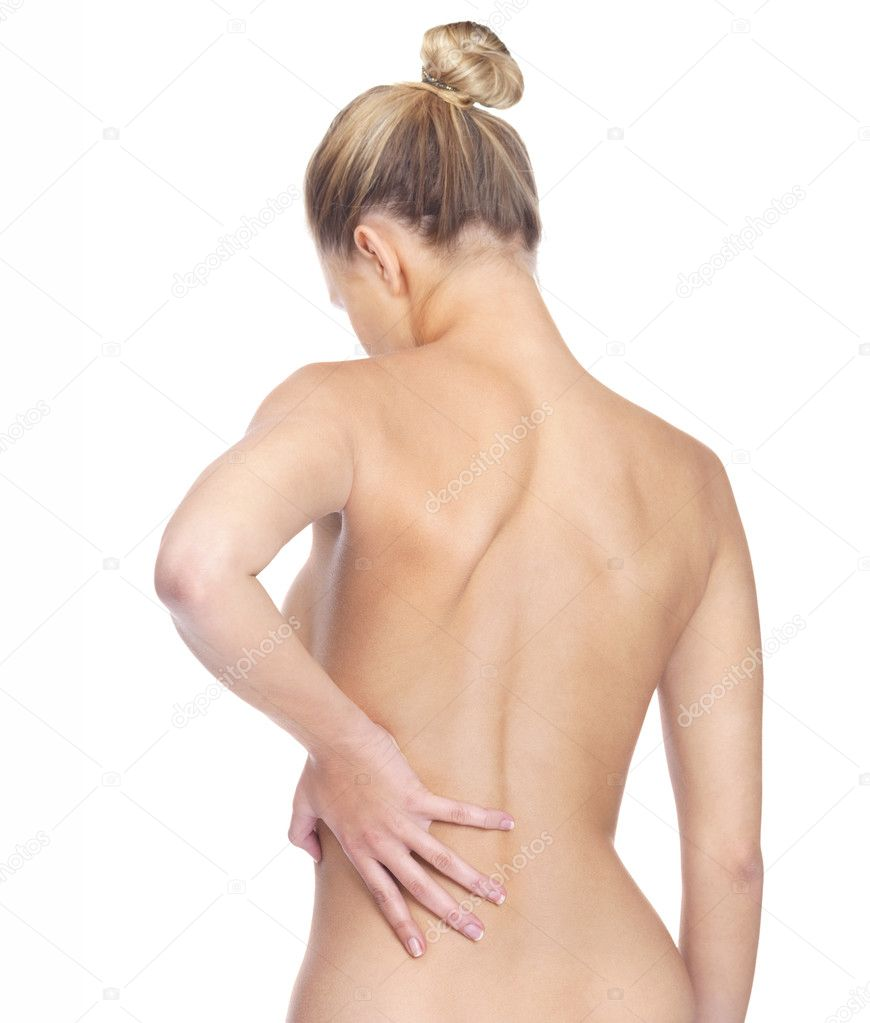 "depositphotos 3466231 Rear view of a nude woman holding back in pain ""Tonight I have some very personal news to share with you,"" Hurtado said, ..."