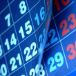 Calendar numbers — Stock Photo