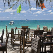 Stock Photo: Restaurant on the beach.