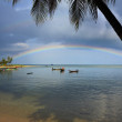 Rainbow on Ko phi phi island. — Stock Photo