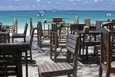 Restaurant on the beach. — Stock Photo