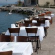 Open air beach reastaurant — Стоковое фото