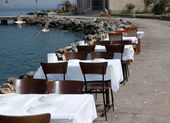 Open air beach reastaurant — Stock Photo