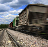 Cargo train speeding — Stock Photo