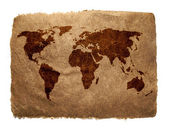 Old earth map — Stock Photo